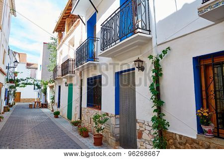 Aras de los Olmos village street  in Valencia Spain