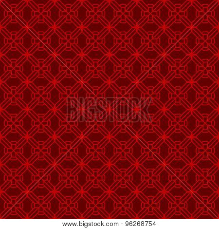 Seamless Chinese window tracery diamond geometry line pattern background.