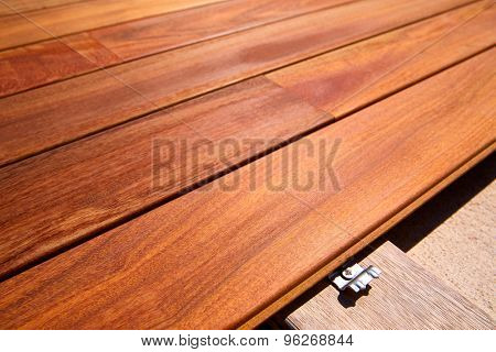 Ipe teak decking deck wood installation clips fasteners
