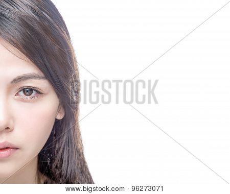 Half Of Asian Female Face