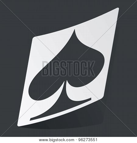 Monochrome spades sticker