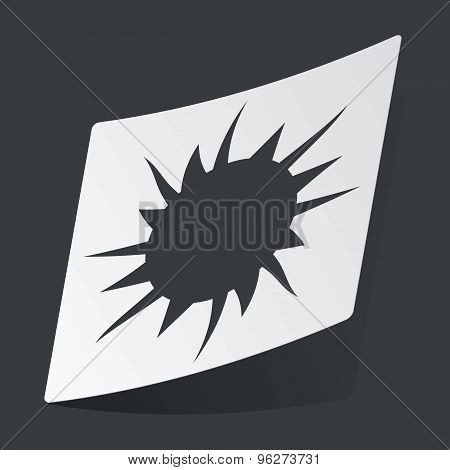Monochrome starburst sticker