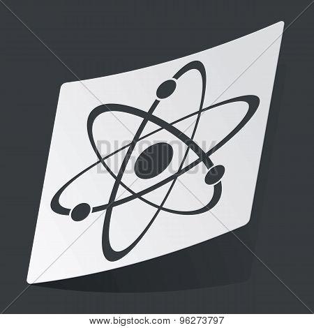 Monochrome atom sticker