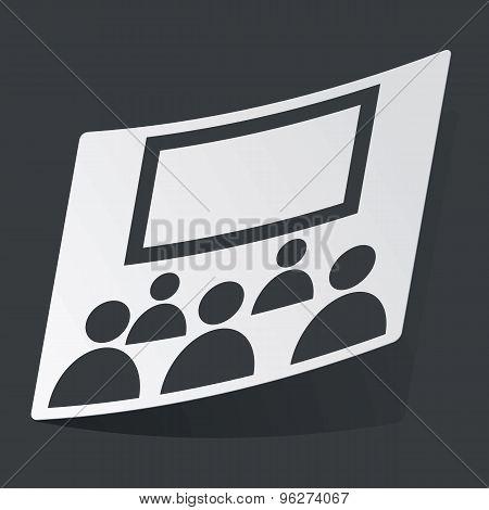 Monochrome audience sticker