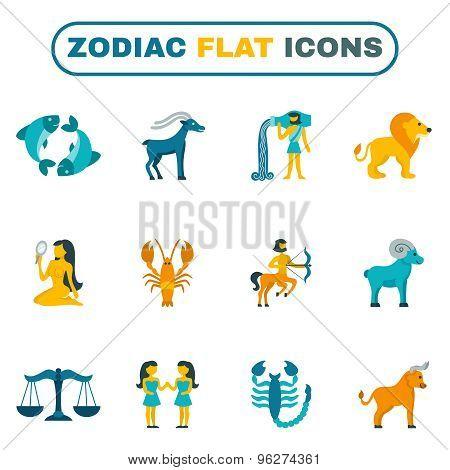 Zodiac Icon Flat