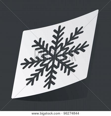 Monochrome winter sticker