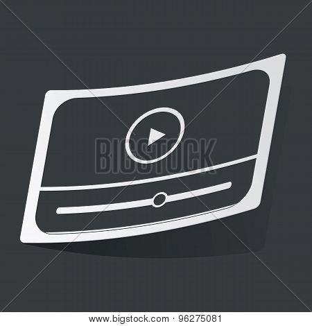 Monochrome mediaplayer sticker