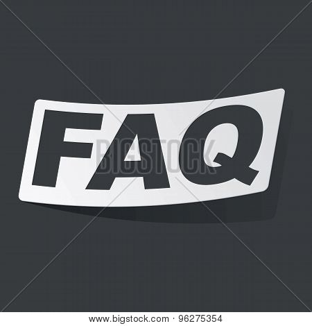 Monochrome FAQ sticker