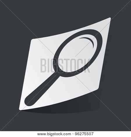 Monochrome search sticker