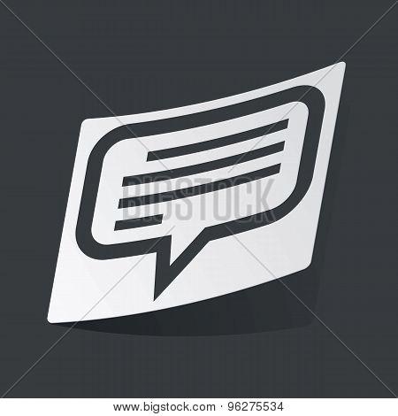 Monochrome text message sticker