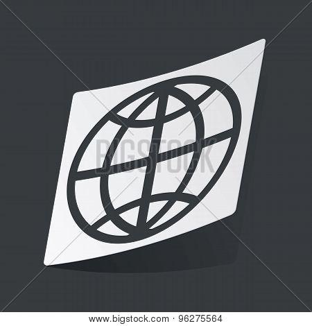 Monochrome globe sticker