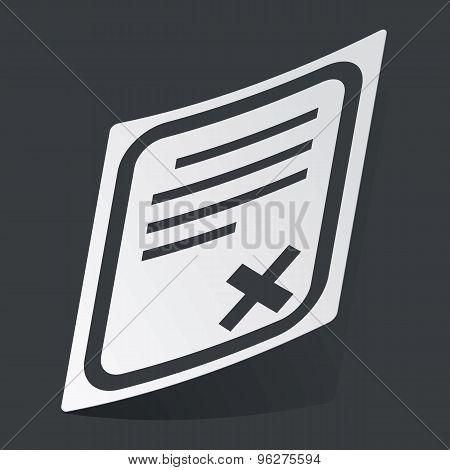 Monochrome document sticker