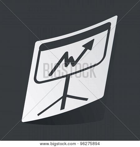 Monochrome graphic presentation sticker