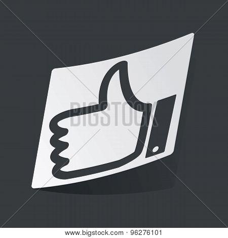 Monochrome like sticker
