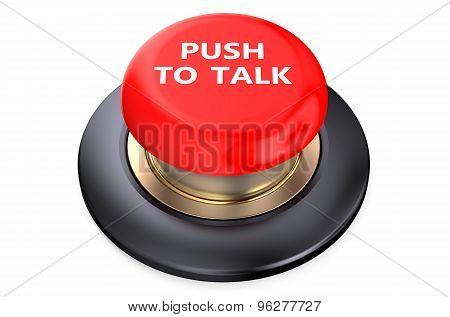 Talk Red  Button