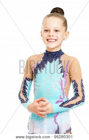 Beautiful young gymnast