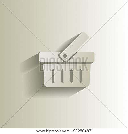 Shopping basket icon easy editable