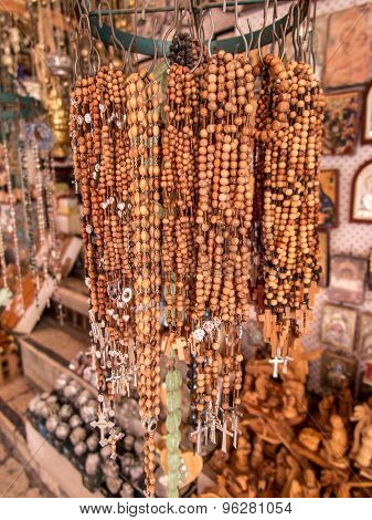 Olivewood Rosaries With Often Purchased In The Old Part Of Jerusalem