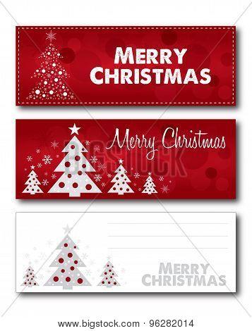 Merry Christmas banner card illustration design vector