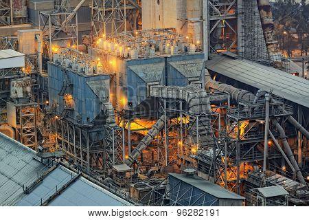 cement plant building close up