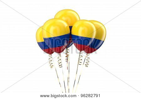 Colombia Patriotic Balloons,  Holyday Concept