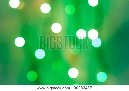 Abstract circular bokeh background of LED bulblight from screen glass