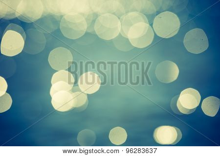 Vintage Abstract Background Of Sea Bokeh