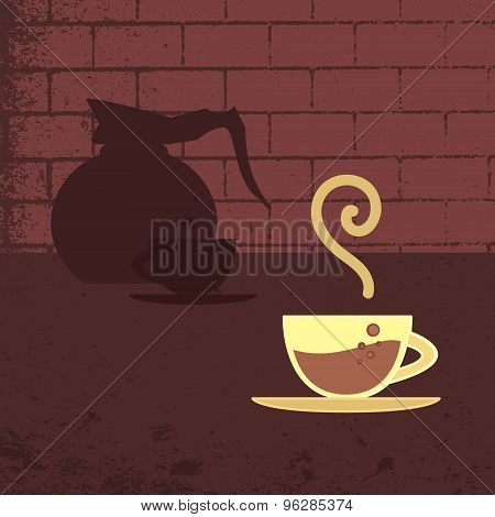 Vector Poster, Banner With Coffee