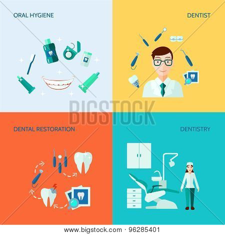 Dental Decorative Icon Set