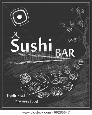 Vintage poster for Japanese restaurant