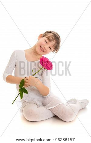 Very beautiful fair-haired little girl