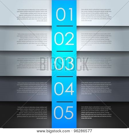 clean numbered banners