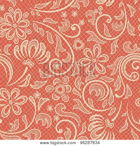 Beautiful floral pattern stylized like laces