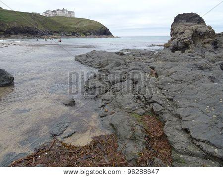 Beach And Cliffs Seascape