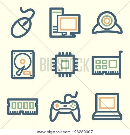 Computer web icons, square buttons