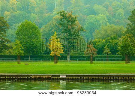 Thames River Landscape. Autumn Nature.