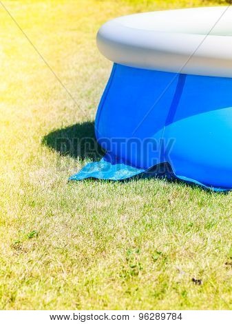 Inflatable Water Pool On Grass