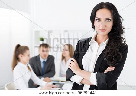 Portrait Of Pretty Young Business Woman