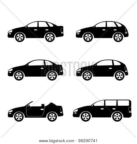 Cars Silhouettes.