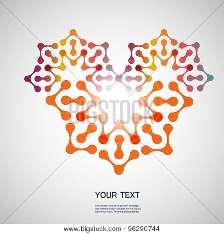 Vector modern abstract technology color pattern, eps