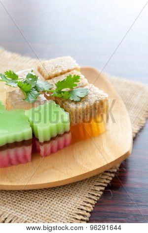 Colorful Thai dessert