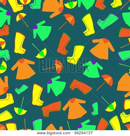 Vector pattern. Rain gear