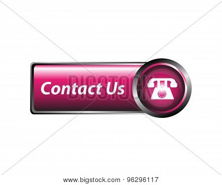 Contact us icon, button design vector template.
