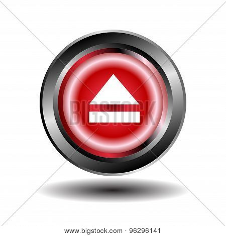 Eject icon. Media eject Vector Icons Set