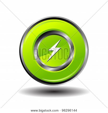 Electricity bolt icon charge button design template