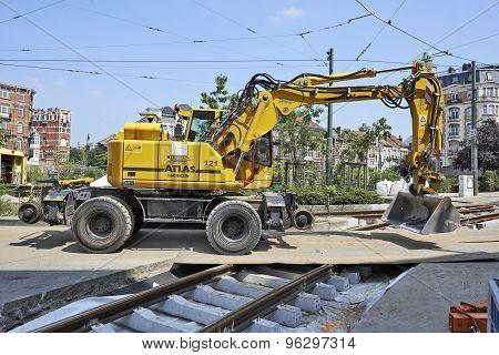 Bulldozer On Construction Site