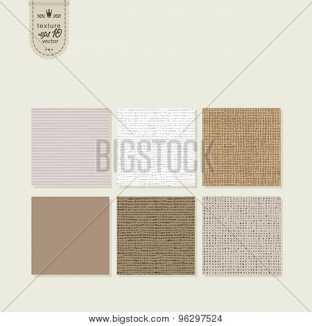 Set Of 6 Textures - Rough Fabric, Paper.