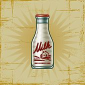 Retro Milk Bottle