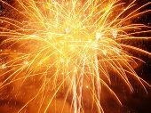 picture of firework display  - orange burst - JPG