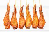 image of thai cuisine  - Fresh made chicken wing satay skewer Traditional thai cuisine - JPG